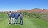 Team photo on number 10 tee at Sedona Golf Resort.