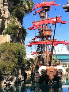 One of the ships at Treasure Island, they have big pirate battles with actors and explosions throughout the day