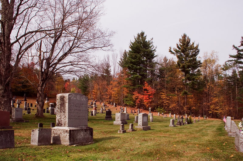 We stopped to visit an old cemetary. The headstones date to the early 1800s.