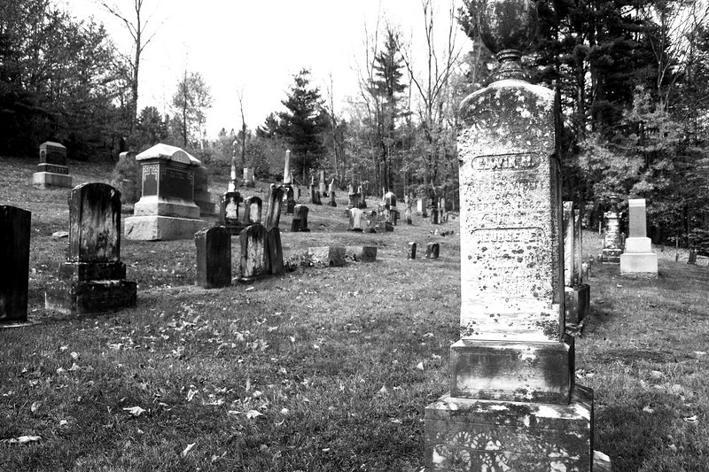 Cemetaries have a more somber mood in black and white.
