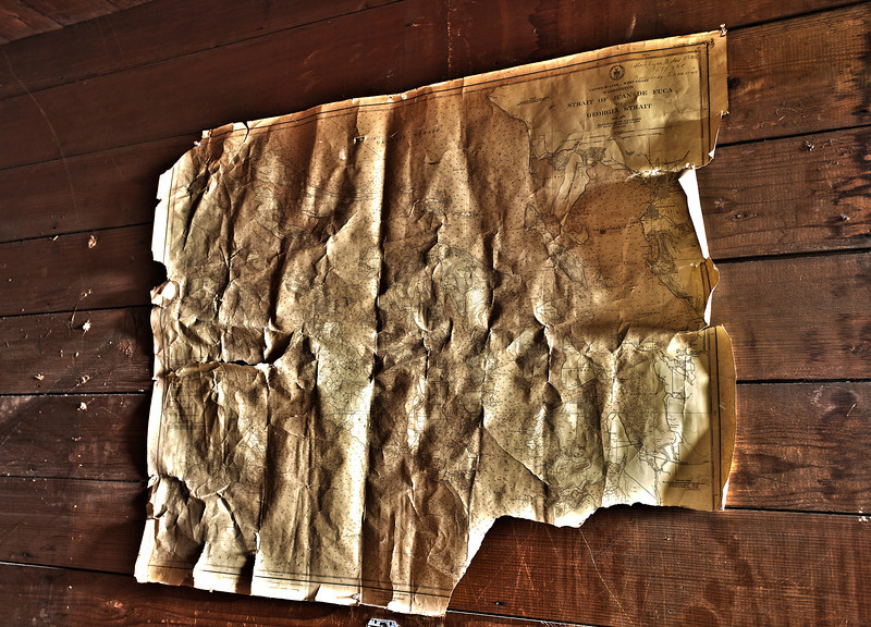 Wrinkled and Creased Old Map