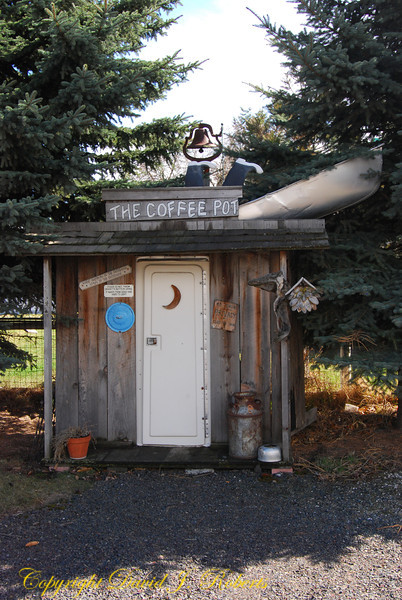 Outhouse at Coffee shop, Lostine, Oregon