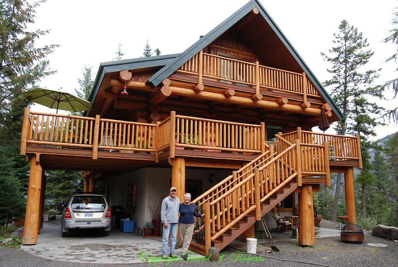 Beautiful log house near Lostine Oregon