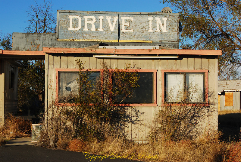 Run down drive in in Coulee City, Washington