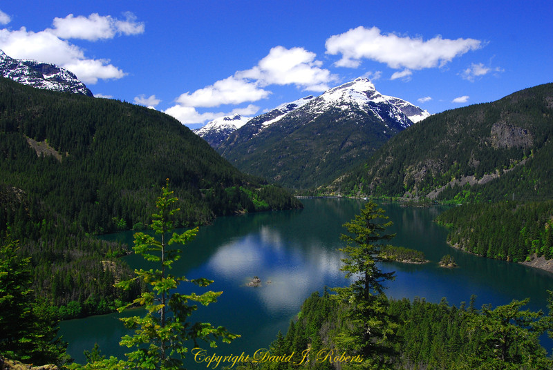 Diablo Lake from Highway 20 overlook, North Cascades, Washington