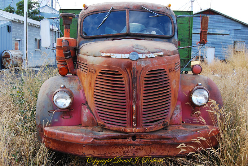 "Old ""Reo"" Flatbed Truck, Hartline, Washington"