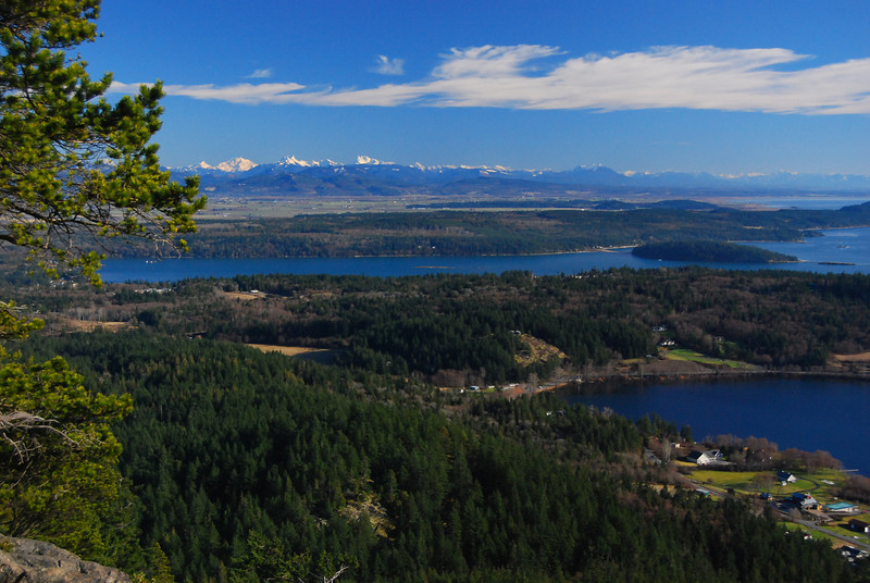 View of Campbell Lake and Skagit Delta from Mount Erie, Anaortes, WA