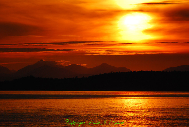 Sunset from San Juan County Park, San Juan Island, Washington