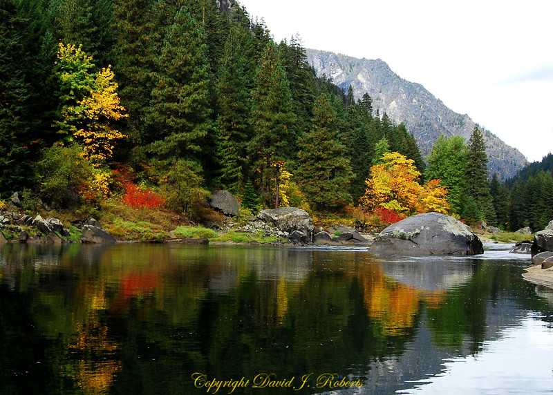 Wenatchee River in Tumwater Canyon near Leavenworth Washington