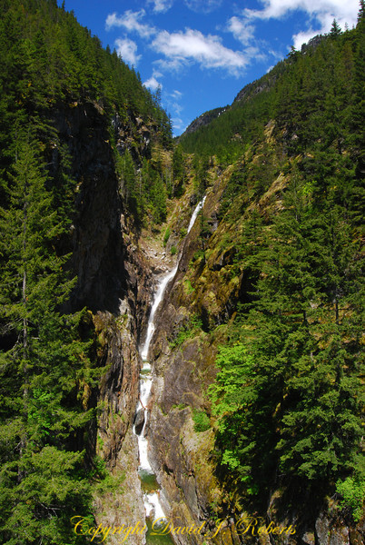 Gorge Creek waterfall, North Cascades, WA