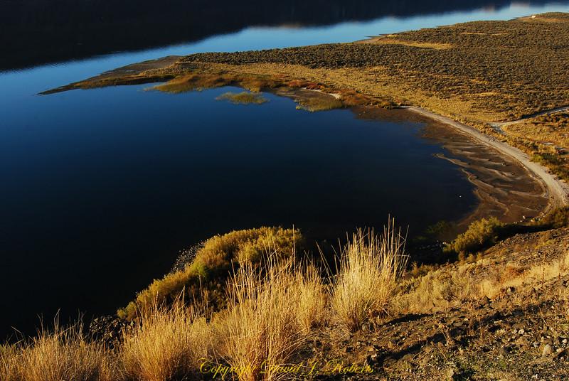 Shoreline of Banks Lake, Washington