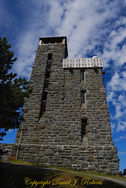 Tower on top of Mount Constitution, Orcas Island, Washington