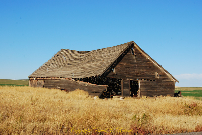 Old Barn in Douglas County east of Waterville, Washington