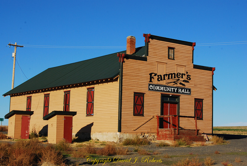 Farmer's Community Hall, Douglas County Washington