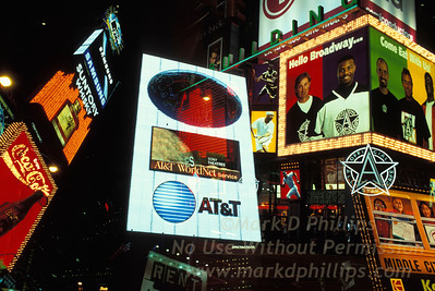 Lights of Times Square in 2000