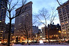 The Flatiron Building, Madison Square Park, New York.