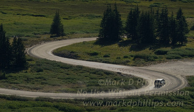 S curve in Cottonwood Pass to Taylor Reservoir in Colorado