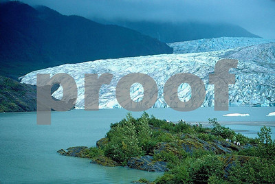 Mendenhall Glacier near Juneau, Alaska in September 1988.