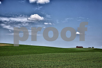 Farm and clouds.
