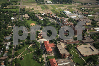 St. Paul, University of Minnesota, aerial view.