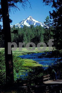 mt. jefferson, metolius river, oregon