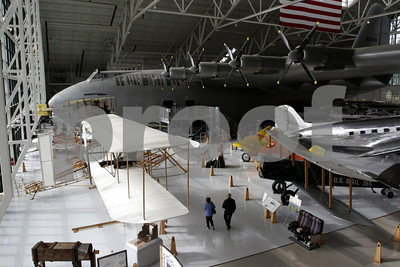 Spruce Goose airplane by Howard Hughes in the Evergreen Aviation Museum, McMinnville, Oregon