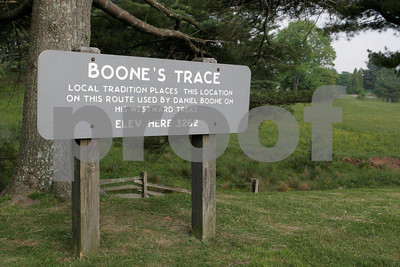 Local tradition places this location on this route used by Daniel Boone on his westward treks.  Elevation 3,262 feet.