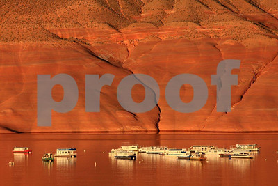 """Lake Powell"", Utah, ""Bullfrog Bay"", houseboats, 0667"