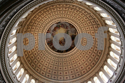 The dome from inside the Capitol.