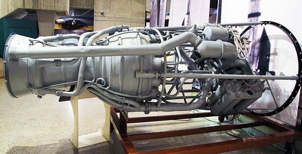 In the NASA Space Flight Center Museum: An engine for a V2 Rocket
