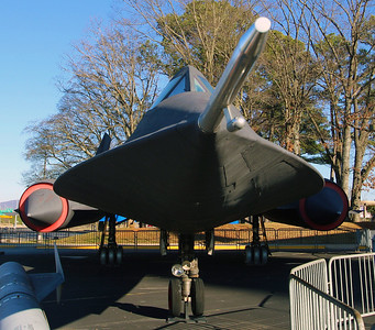 Lockheed SR-71 Blackbird.  This high-altitude reconnaissance airplane reached 85,000 feet and flew at a speed of Mach 3.3