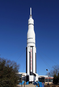 The Saturn 1 Rocket.  It was used in early tests of the Apollo module