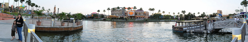 Quick panorama on first evening at Universal City Walk