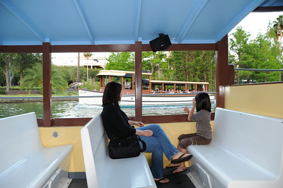 Taking water taxi to CityWalk - don't need a car if you're staying onsite.