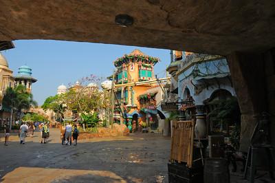 Entering Island of Adventure park