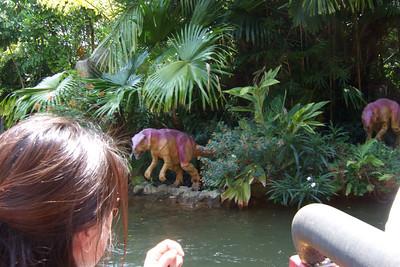 On the Jurassic Park River Adventure ride