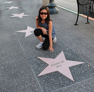 Sarah's star of fame on Hollywood Blvd.