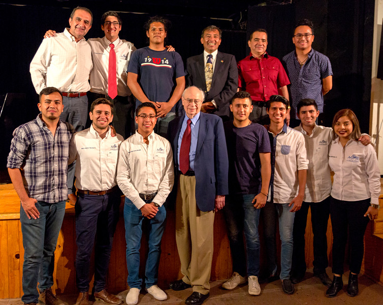 John with group of Students and alumni, Guanajuato engineers
