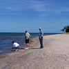 Walking along the beach to Au Sable Lighthouse