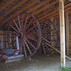 Katydid- a set of two 10' to 14' high logging wheels