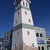 """Lighthouse"" at AmericInn, our hotel in Munising, MI."