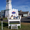 Big chair at the AmericInn in Munising, MI.