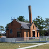 The fog signal station next to the lighthouse, where visitors buy entrance tickets and gifts.