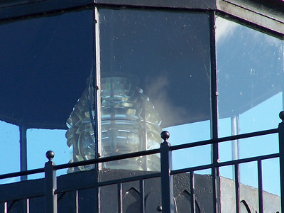 Restoration of the Sand Point Lighthouse included a fourth order Fresnel lens found in Menominee.