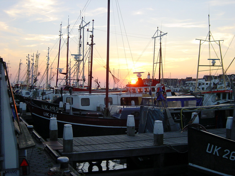 Fishing trawlers of Urk (all carry the letters UK plus a number)
