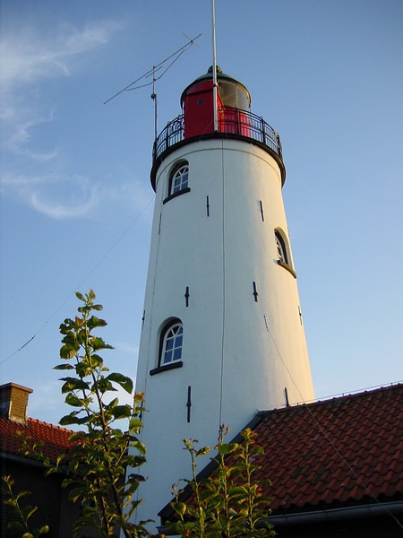 Light tower on the island of Urk.