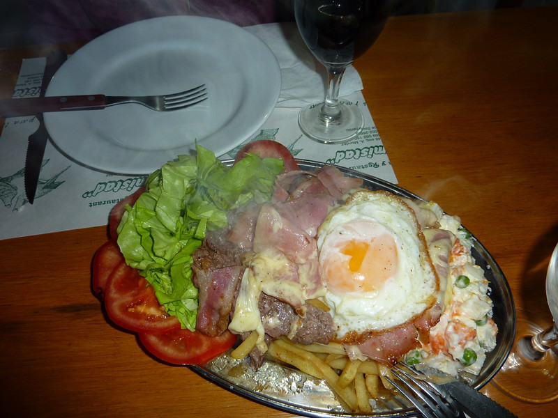 Chivito!!!! otherwise known as 'stuff on stuff'.