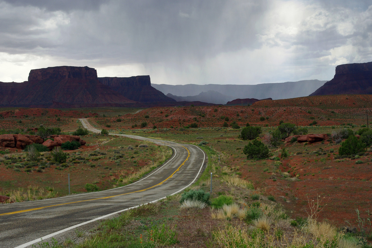 Castle Valley Road, east of Utah 128 north of Moab.