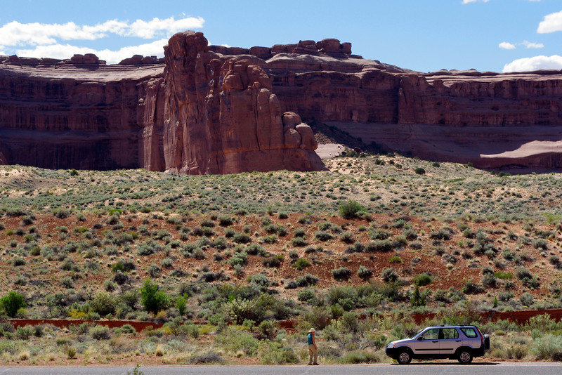 Landscape with rocks; Arches National Park, Utah.