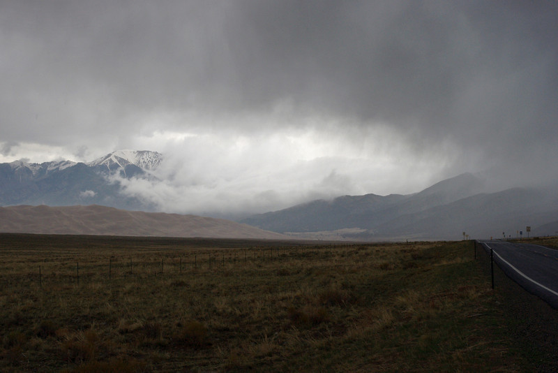Weather over the Sangre de Cristo Mountains, San Luis Valley, Colorado.